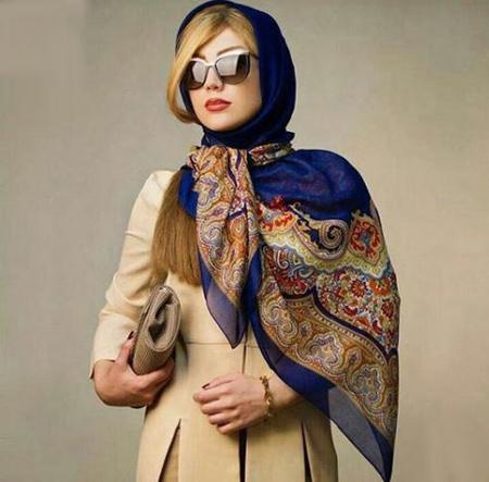 مدل بستن شال و روسری,مدل بستن روسری دخترانه