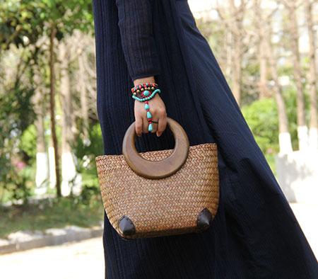 کیف حصیری زنانه,