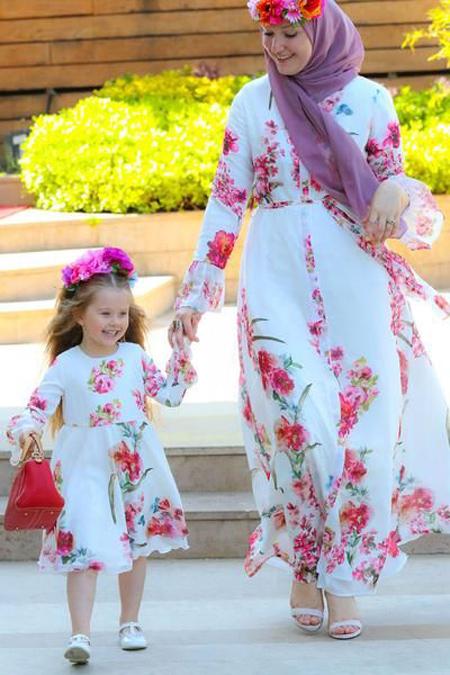 ست پیراهن مجلسی مادر و دختر,شیک ترین ست پیراهن مادر و دختر