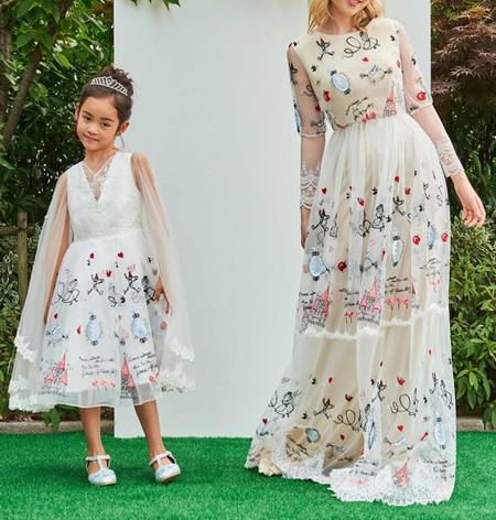 شیک ترین ست پیراهن مادر و دختر,ست پیراهن مادر دختر
