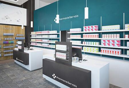 طراحی داروخانه, طراحی و چیدمان داروخانه, طراحی های داخلی داروخانه