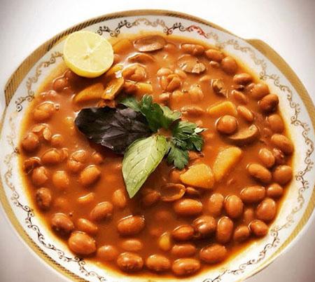 طرز تهیه خوراک لوبیا چیتی,لوبیا