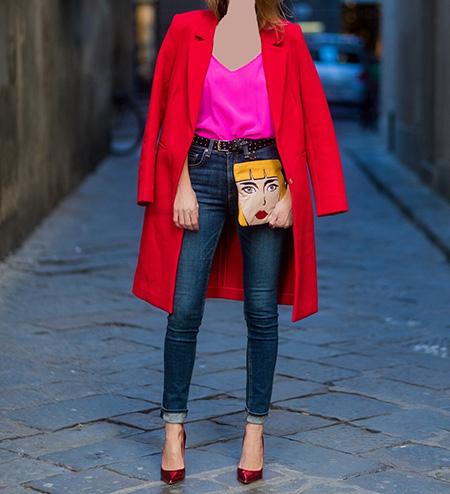 بهترین رنگ شال برای مانتو قرمز, شیک ترین ست با مانتوهای قرمز, بهترین رنگ برای ست کردن با مانتو قرمز