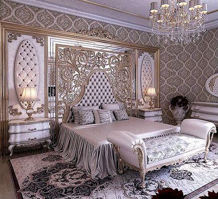 دکوراسیون سلطنتی اتاق خواب, دکوراسیون و چیدمان اتاق خواب