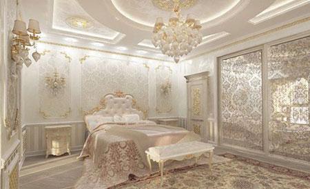 چیدمان های شیک اتاق خواب,دکوراسیون اتاق خواب سلطنتی