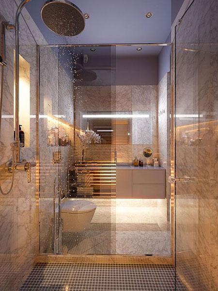 طراحی سرویس بهداشتی, طراحی شیک ترین مدل حمام و دستشویی