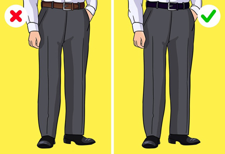 اصولی برای لباس پوشیدن آقایان,قوانینی برای لباس پوشیدن
