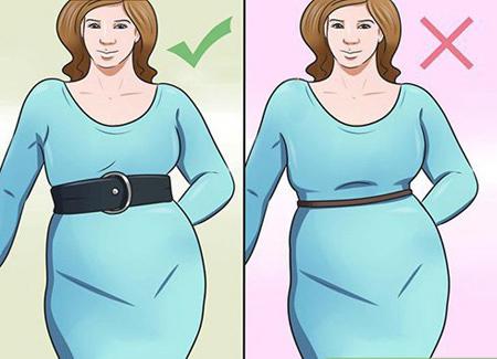 set1 big belly1 اصول ست کردن لباس برای کسانی که شکم بزرگ و پهلو دارند