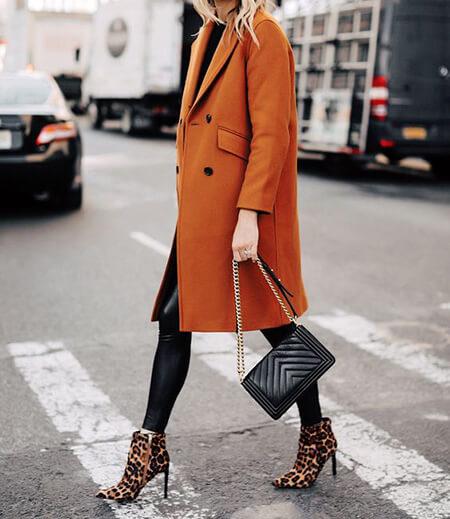 ست لباس پاییزی با بوت پلنگی,مدل ست با بوت پلنگی