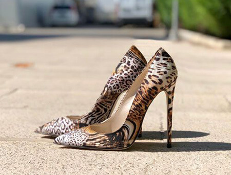 shoe2 animal2 skin5 مدل کفش با طرح پوست حیوانات