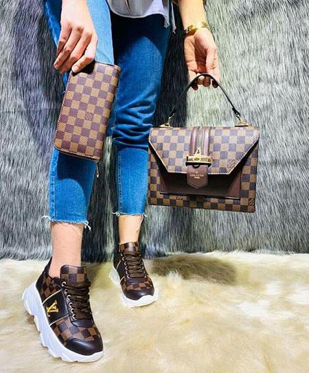 طراحی کیف با کفش اسپرت, ست کیف و کفش اسپرت مارک