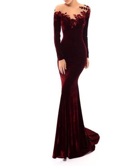 مدل پیراهن مخمل, مدل لباس بلند مخمل