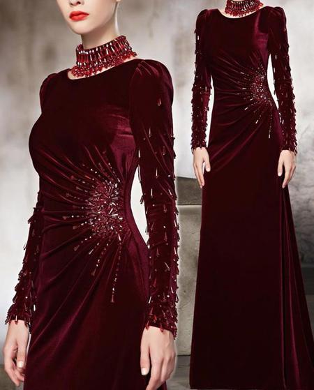 جدیدترین مدل لباس مخمل, مدل پیراهن مخمل