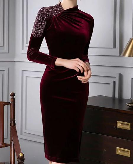 مدل لباس مخمل گلدار, مدل لباس مخمل شیک