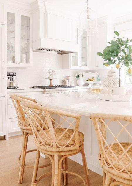 میز و مبل حصیری, میز و صندلی های حصیری