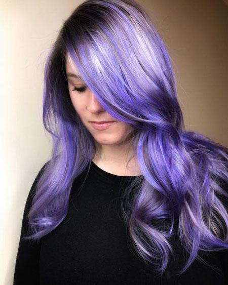مدل رنگ مو بنفش, فرمول رنگ مو بنفش تیره, رنگ مو بنفش فانتزی