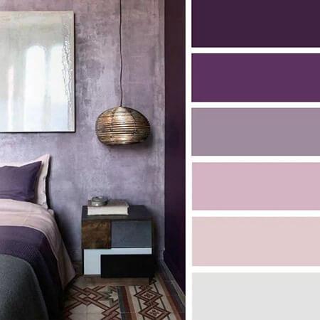دکوراسیون رنگ یاسی, ترکیب رنگ یاسی در دکوراسیون و اتاق خواب, رنگ یاسی اتاق خواب