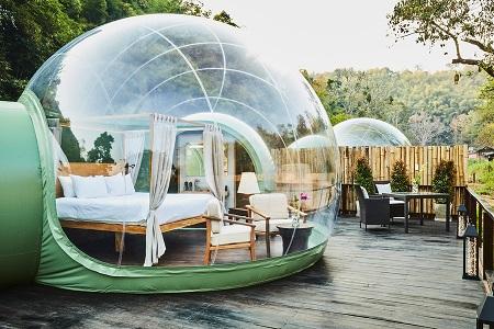 عجایب گردشگری تایلند, راه اندازی هتل جنگلی حبابی, عکس حباب های جنگلی
