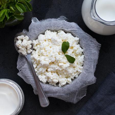 نحوه ی درست کردن پنیر کوتاژ, طرز درست کردن پنیر کوتاژ