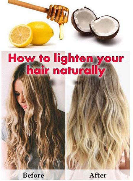 روش هایلایت مو در منزل, هایلایت طبیعی مو, آموزش هایلایت طبیعی مو