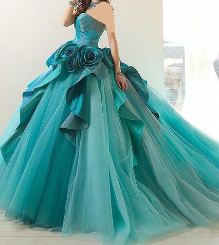لباس مجلسی فیروزه ای رنگ, مدل لباس مجلسی فیروزه ای, شیک ترین مدل لباس مجلسی فیروزه ای