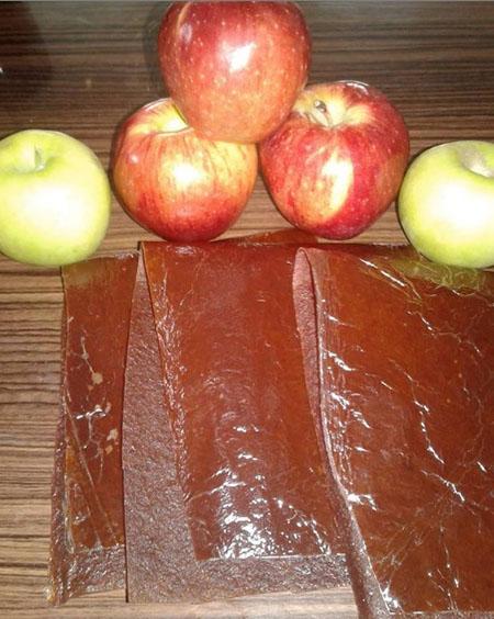 لواشک سیب با طعم های مختلف, لواشک سیب در زمستان, آموزش پخت لواشک سیب