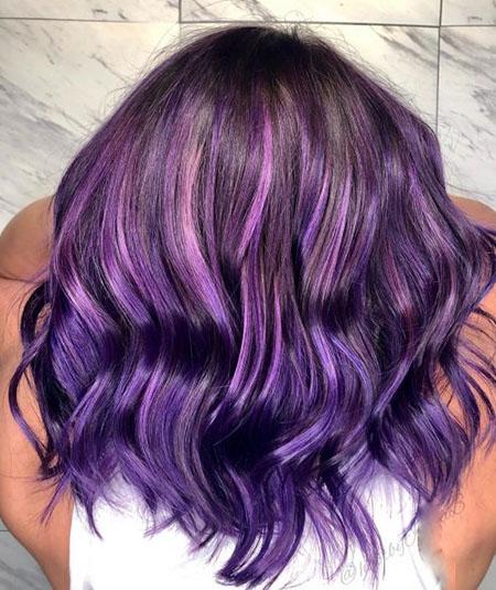 رنگ مو بنفش فانتزی, ست کردن لباس با رنگ مو بنفش, انواع فرمول رنگ مو بنفش