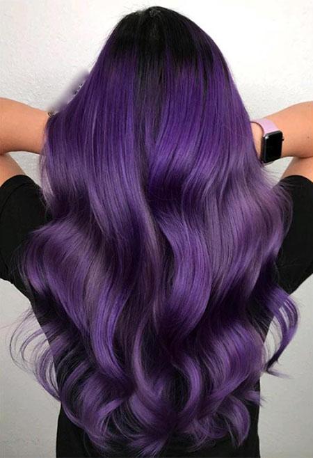 فرمول رنگ مو بنفش, رنگ مو بنفش پلاتینی, رنگ مو بنفش بدون دکلره