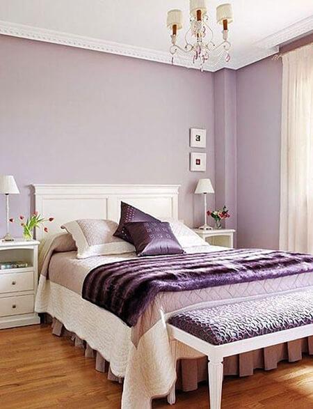 رنگ های ست شده با رنگ یاسی,دکوراسیون و چیدمان اتاق خواب به رنگ یاسی,دکوراسیون یاسی اتاق خواب