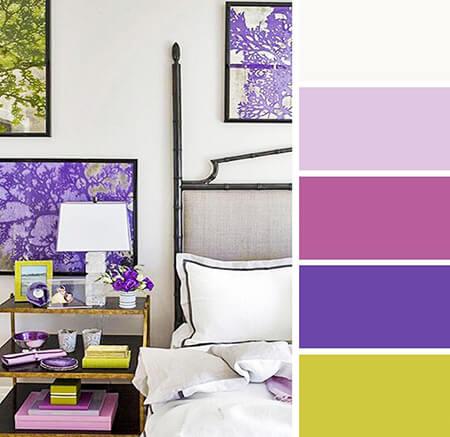 ترکیب رنگ یاسی در دکوراسیون و اتاق خواب,دکوراسیون رنگ یاسی اتاق خواب,دکوراسیون و چیدمان یاسی اتاق خواب