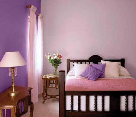 ترکیب رنگ یاسی در دکوراسیون اتاق خواب, دکوراسیون یاسی اتاق خواب, ایده هایی برای دکوراسیون یاسی اتاق خواب