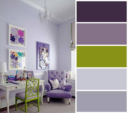 دکوراسیون رنگ یاسی,رنگ یاسی اتاق خواب,دکوراسیون اتاق خواب یاسی