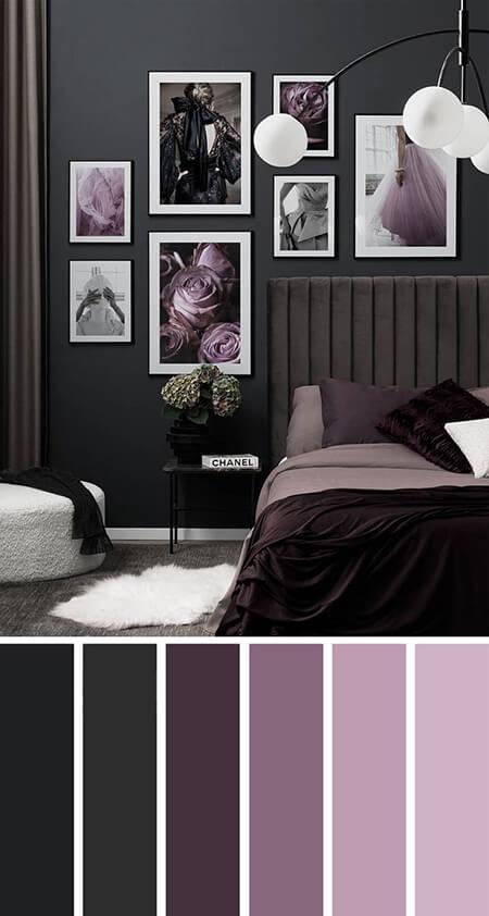 رنگ یاسی اتاق خواب, دکوراسیون رنگ یاسی اتاق خواب, دکوراسیون اتاق خواب یاسی