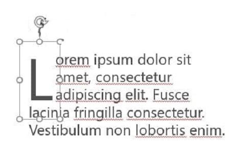 بزرگ کردن خودکار حروف اول خط , کارایی Drop Cap , یعنی چه drop cap