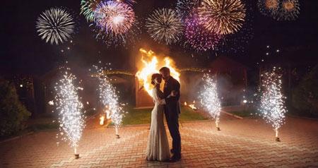 انواع آتش بازی,انواع گوناگون آتش بازی, آتش بازی برای عروس و داماد