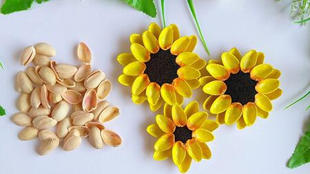 آموزش ساخت گل با پوست پسته, کاردستی با پوست پسته آسان, کاردستی با پوست پسته