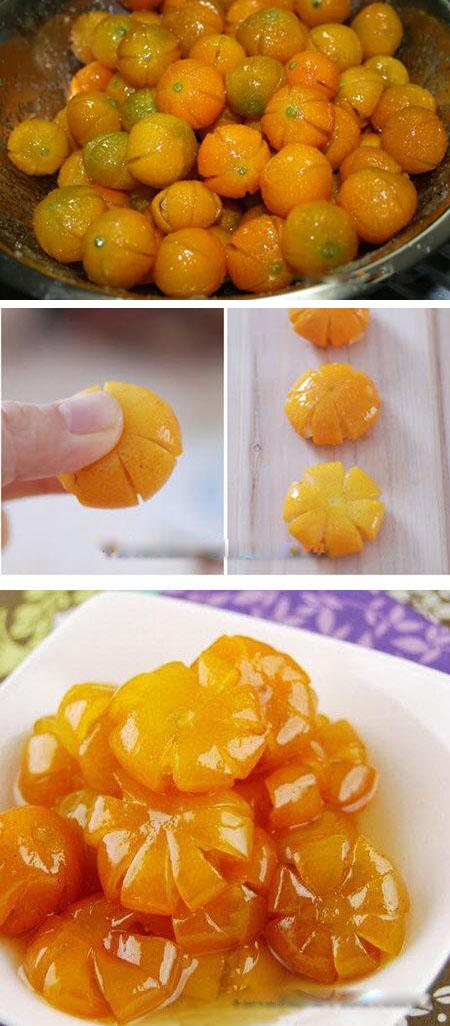مربای کامکوات مجلسی, مربای کامکوات به شکل گل, طرز تهیه مربای کامکوات