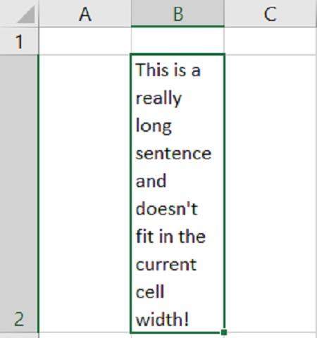 Wrap text در جدول اکسل, آشنایی با Wrap Text در اکسل, نحوه بسته بندی متن در سلول در اکسل
