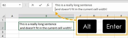 wrap text در اکسل, بسته بندی متن در اکسل, کاربرد wrap text در ورد