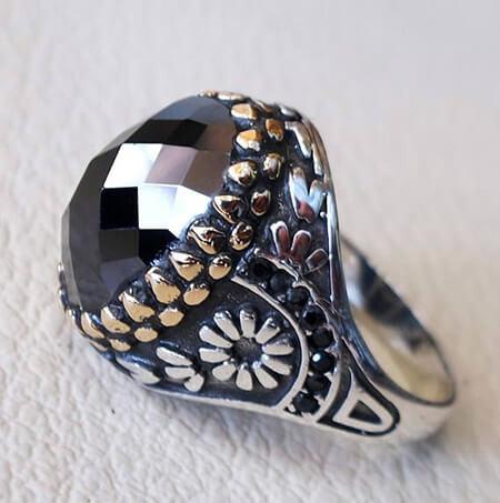 مدل های انگشترهای مردانه با سنگ حدید, طرح هایی از انگشترهای حدید, انگشترهای شیک مردانه
