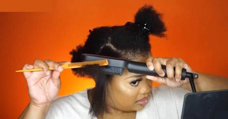 براشینگ موهای کوتاه, سشوار کشیدن موهای کوتاه, براشینگ مجلسی موی کوتاه