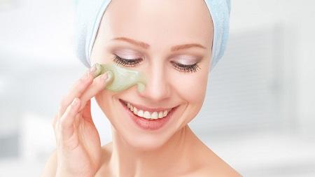 پاکسازی پوست خشک خانگی, مراحل پاکسازی پوست خشک, ماسک صورت برای پاکسازی پوست خشک
