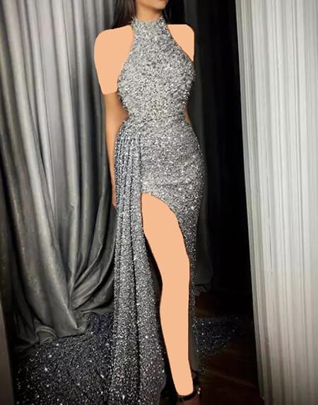 %name شیک ترین مدل لباس شب نقره ای