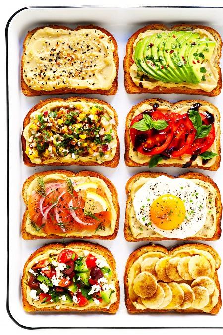 غذا با نان تست, تهیه غذا با نان تست, انواع پیش غذا با نان تست