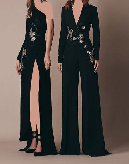 جدیدترین مدل لباس سرهمی مجلسی زنانه, مدل لباس سرهمی مجلسی زنانه جدید, مدل لباس سرهمی با شلوار مجلسی زنانه